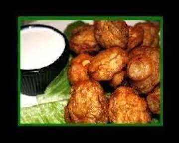 Fried Mushrooms with Horseradish Dipping Sauce
