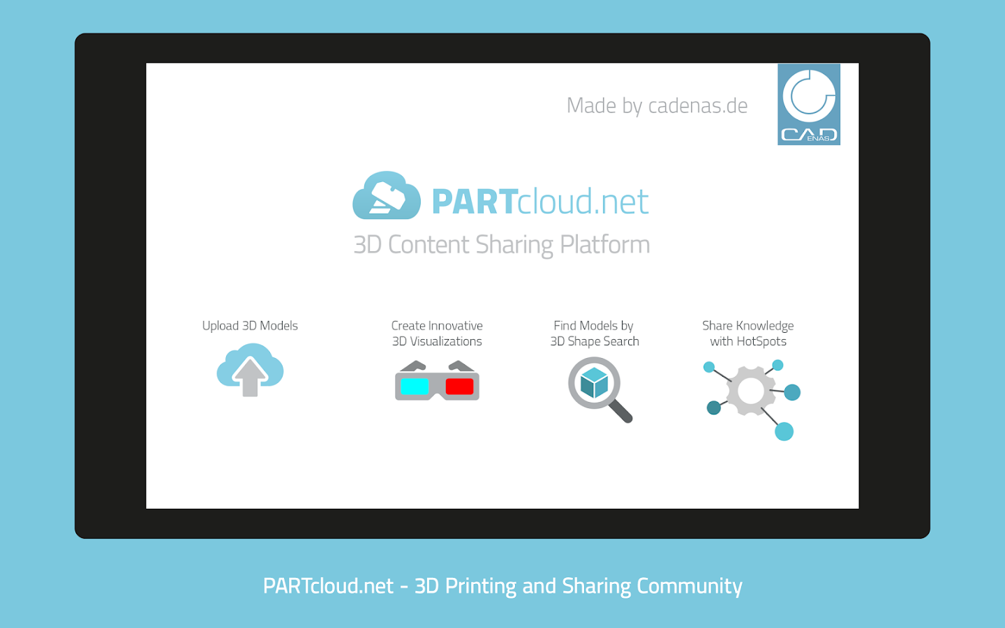 PARTcloud.net 3D Print & Share- screenshot