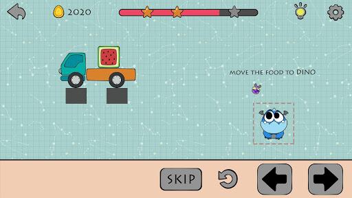 Dino Brain: Brain It On - Draw Physics Line apkpoly screenshots 9