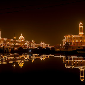 North/South Block (President's House), New Delhi by Ajay Sood - Travel Locations Landmarks ( pwclandmarks, sood, president's house, photo images from india, travel, republic day, north/south block, delhi, ajay, new delhi, ajay sood, india, travelure, illumination )