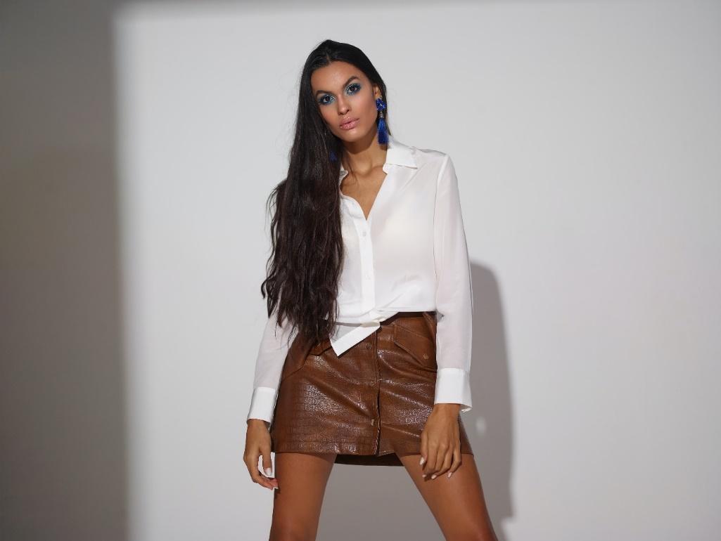 Girl in a mini skirt
