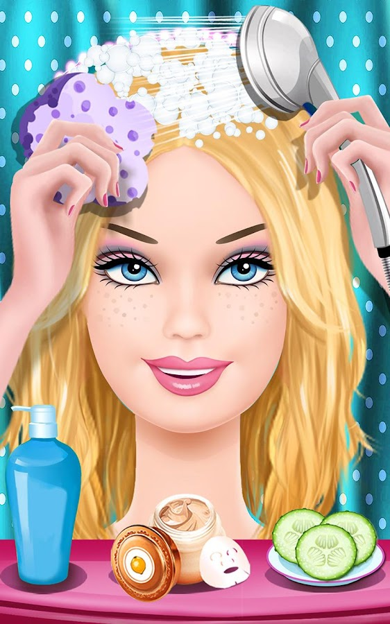 Barbie makeup hairstyle dress games