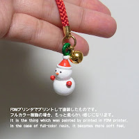 Strap ornament snowman type