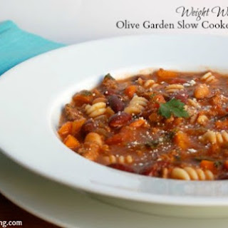 Olive Garden Slow Cooker Pasta Fagioli.