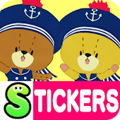 TINY TWIN BEARS Stickers