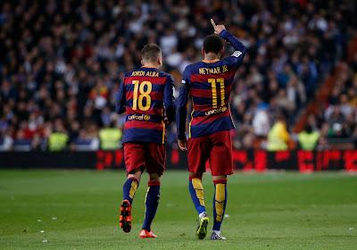 """Jordi Alba se réjouit: """"Mieux pour nous que Neymar ne joue pas"""""""