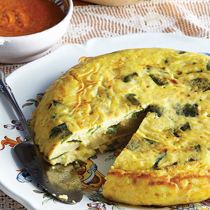 Spanish Potato Omelet with Roasted Peppers