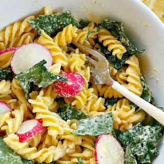 Kale Caesar Pasta Salad [Vegan, Gluten-Free] Recipe