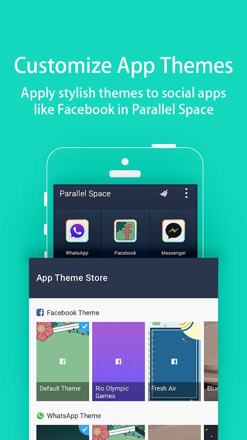 Screenshots of Parallel Space-Multi Accounts for Android