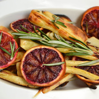 Blood Orange Roasted Parsnips.