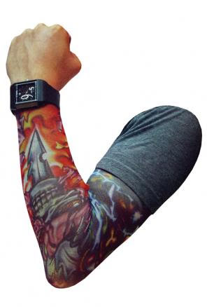 Tatuering armstrumpa sort