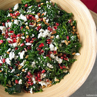 Massaged Kale Salad with Pine Nuts & Pomegranate