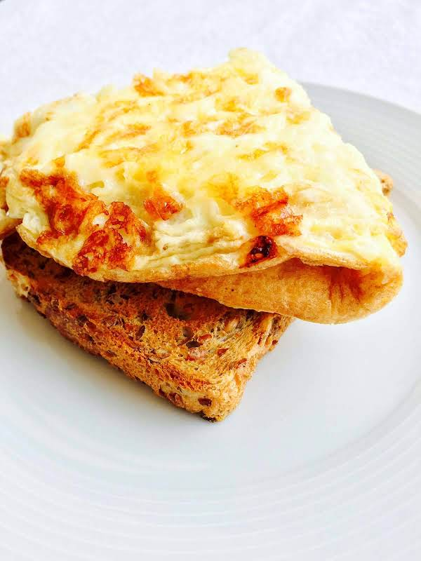 Cheese Omelette On Toast Recipe