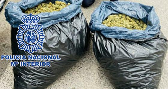 65 kilos de marihuana lista para vender: detenido por llevar droga en su coche