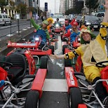 waiting at the stop lights in Mario Karts in Tokyo, Tokyo, Japan