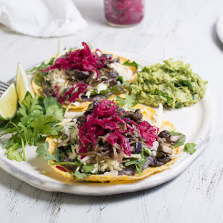 Parsnip & Mushroom Tacos with Coriander Crema