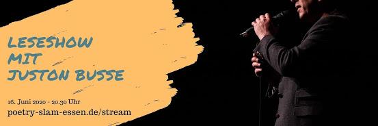 Corona-Break: Leseshow mit Juston Buße