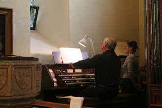 Photo: John Marsden performing a number of pieces at the lighter end of the organ repertory in Priston Church.© Richard Bottle 2008