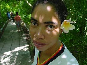Photo: Roxanita at Hemingway house - Finca Vigia. Cuba. Tracey Eaton photo.