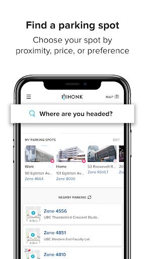 HonkMobile: Find & Pay for Parking screenshots 1