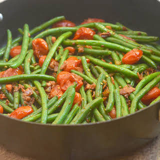 Green Beans with Bacon and Tomatoes.