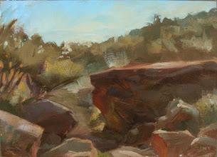 "Photo: Vasquez Rocks 12"" x 9"" oil"