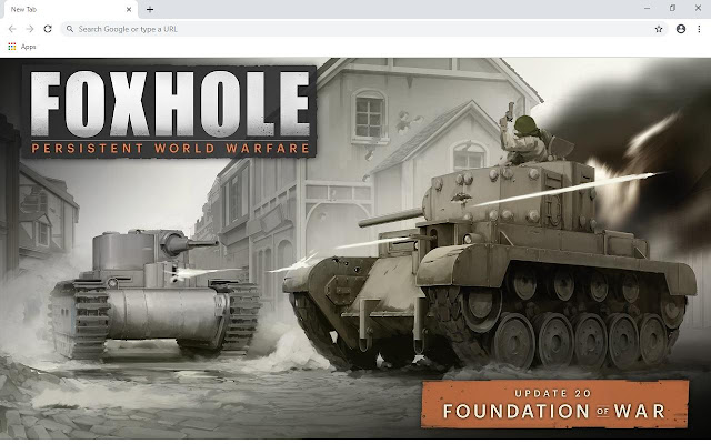 Foxhole Wallpapers and New Tab