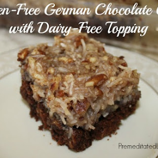 Gluten-Free German Chocolate Cake with Dairy-Free Topping
