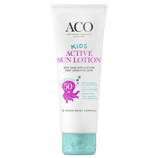 ACO Kids Active Sun Lotion SPF 50+, 250 ml