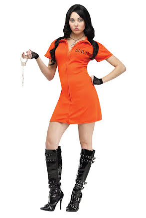 Fångdräkt orange, dam