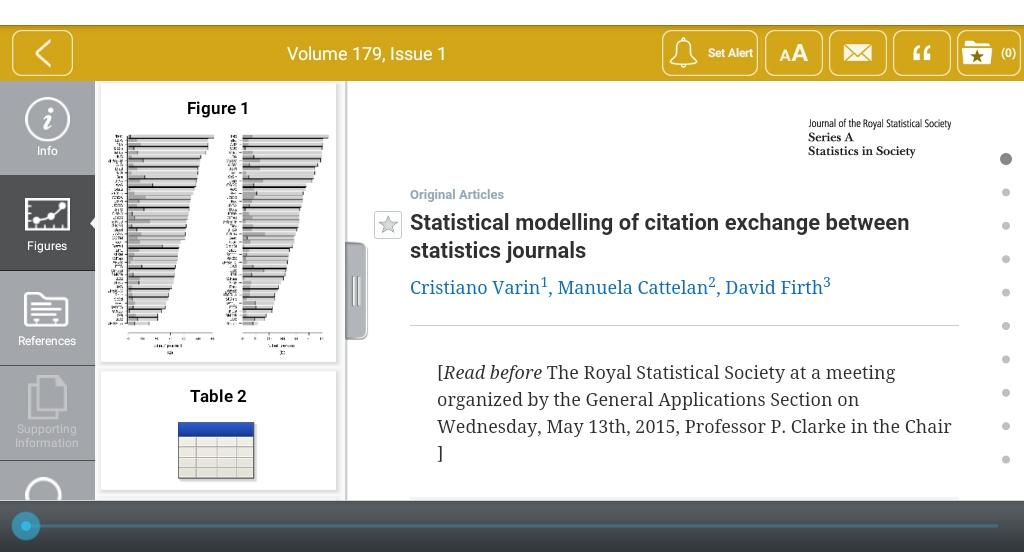 Journal of the RSS Series A- screenshot