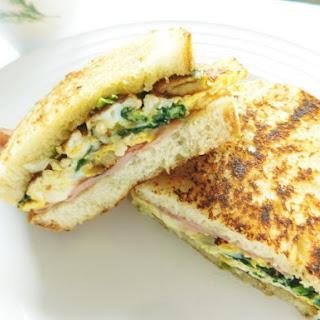 Ham & Spinach Breakfast Sandwich.