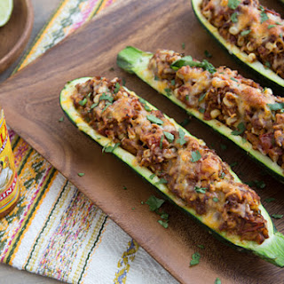 Taco Stuffed Zucchini.