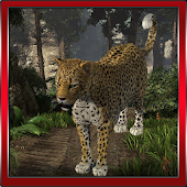 Leopard Angry 3D