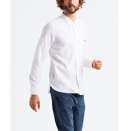 Levi's long sleeve battery housemark shirt white slim