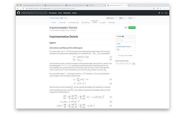 MathJax Plugin for Github