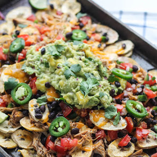 Pulled Pork Plantain Nachos