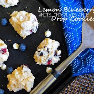 Lemon Blueberry White Chocolate Chip Drop Cookies