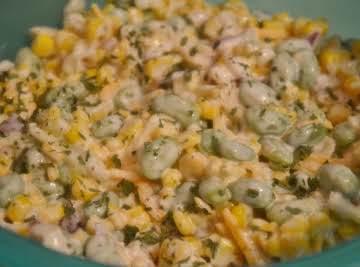 Ranch Style Edamame & Corn Salad