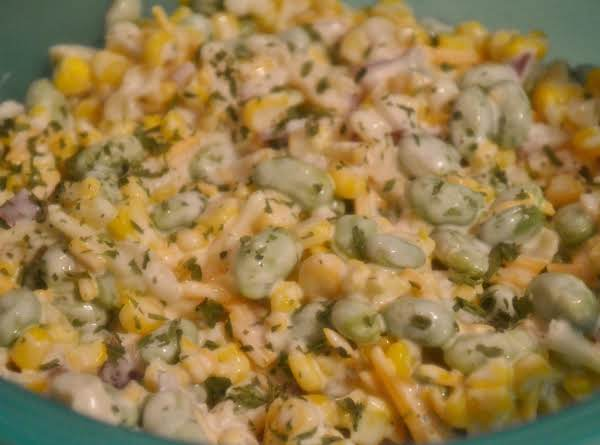 Ranch Style Endemame & Corn Salad
