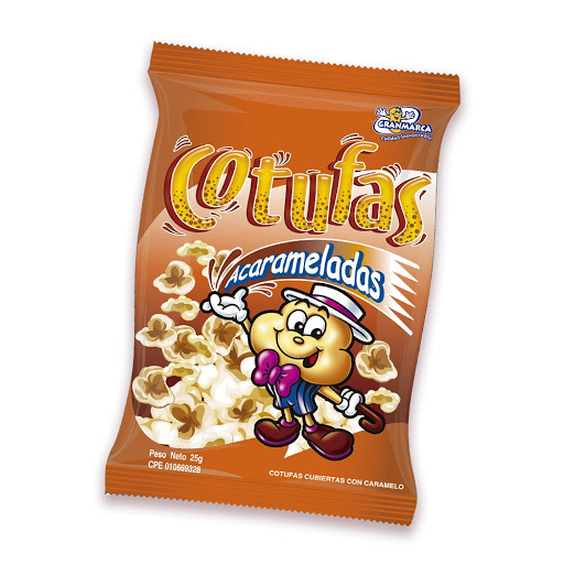 snack cotufas granmarca acarameladas 25gr