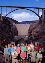 "Photo: GSM field trip participants posing ""in front of the dam"" (or not!)"