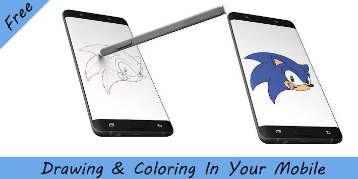 cómo dibujar Sonic the hedgehog apk 1.1 - aplicaciones educativas ...