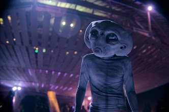 Photo: Alien Landing Burning Man 2013