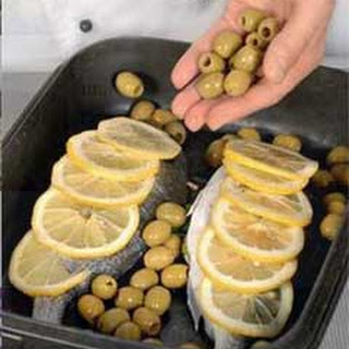 Moroccan Baked Sea Bream