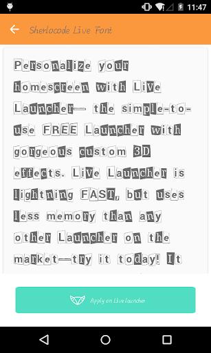 Fashion font 1- Live Launcher