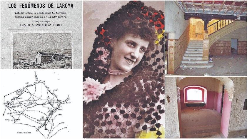 Los fuegos de Laroya en un informe y mapa de los cortijos afectados, Conchita Robles y la Casa del Cine antes de su restauración.