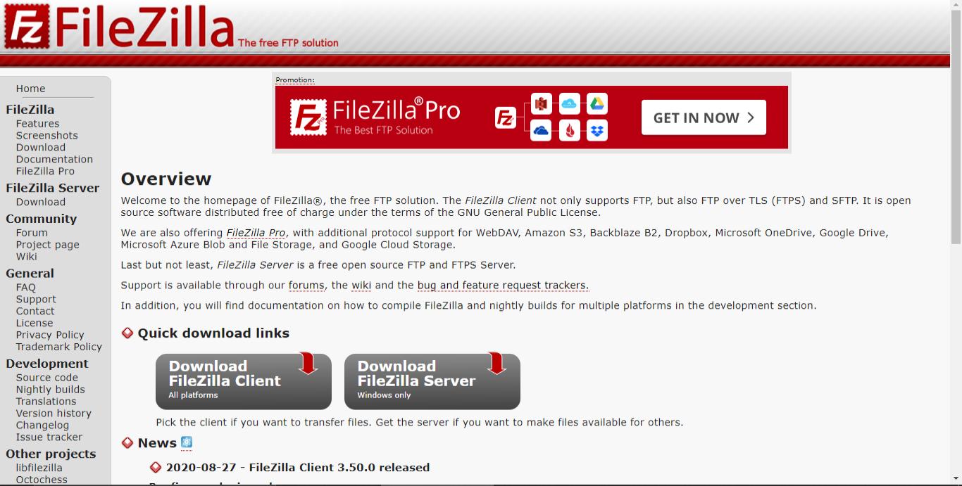 Ilustrasi FileZilla