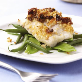 Healthy White Fish with Beans.