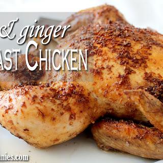 Garlic & Ginger Oven Roast Chicken.
